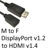 DisplayPort 1.2 (M) to HDMI 1.4 (F) Black OEM Converter Adapter