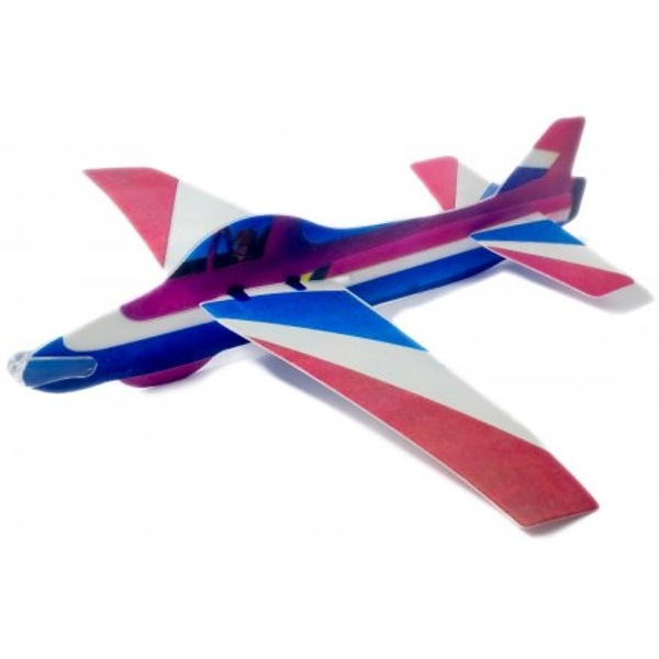 Blue and Red Foam Glider