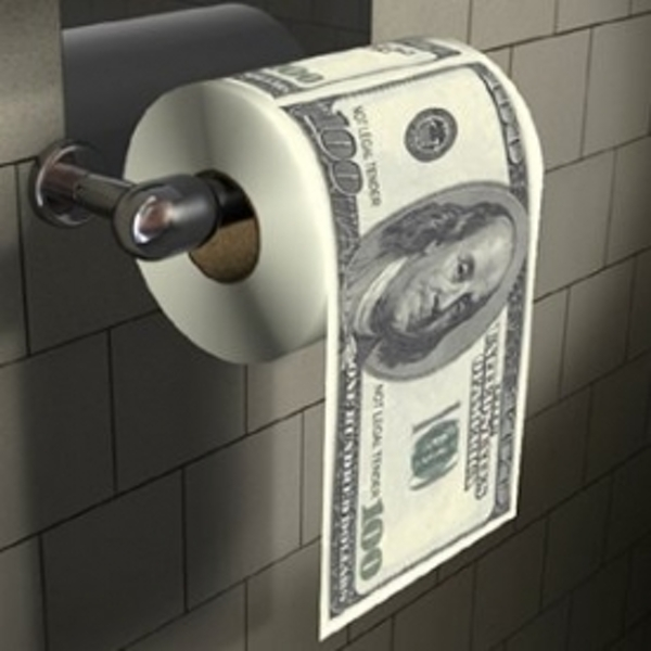 Thumbs Up! $100 Dollar Bill Toilet Paper - Image 2
