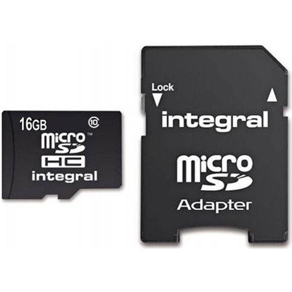 Integral SD Card 16GB with SD Adapter Class 10