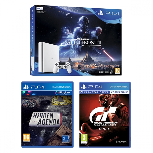 playstation 4 slim 500gb white console star wars. Black Bedroom Furniture Sets. Home Design Ideas
