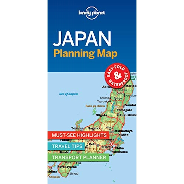 Lonely Planet Japan Planning Map  Sheet map, folded 2018