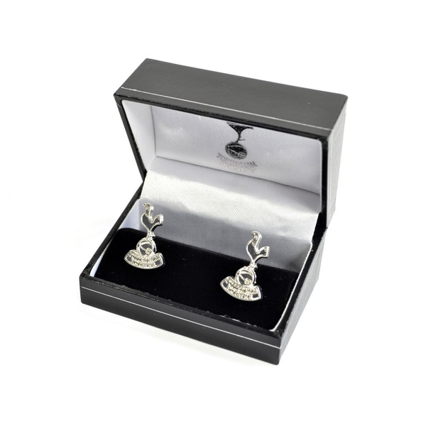 Spurs Silver Plated Crest Boxed Cufflinks