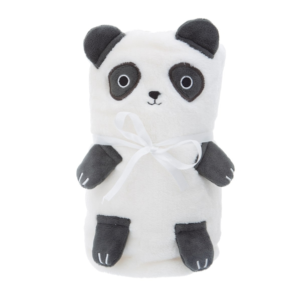 Sass & Belle Panda Soft Fleece Baby Blanket