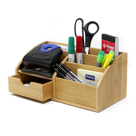Bamboo Desk Stationery Organiser | M&W