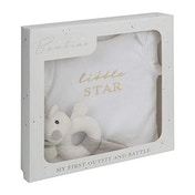 Bambino Baby Suit and Rattle Set