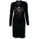 Skull Roses Women's Medium Neck Band Elegant Dress- Black - Image 2