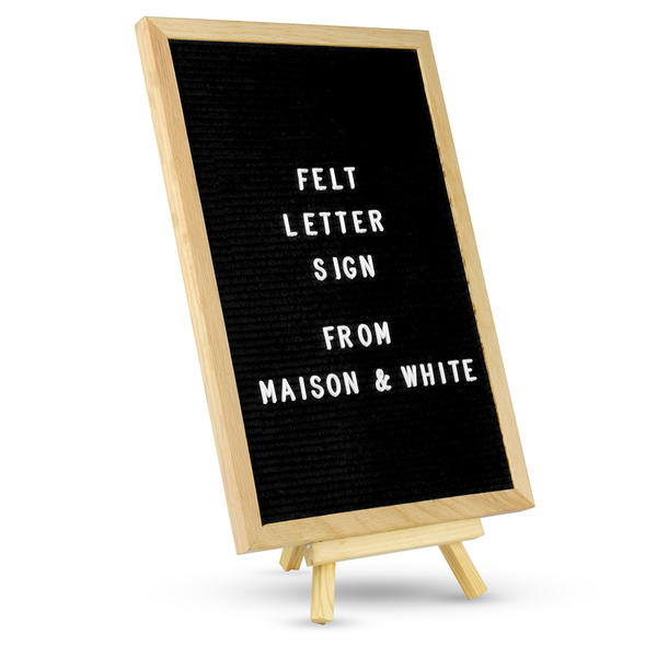 Felt Letter Board Message Sign | M&W 12x18in - Image 1