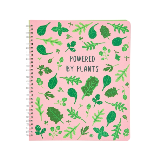 Sass & Belle Powered by Plants A4 Lined Notebook