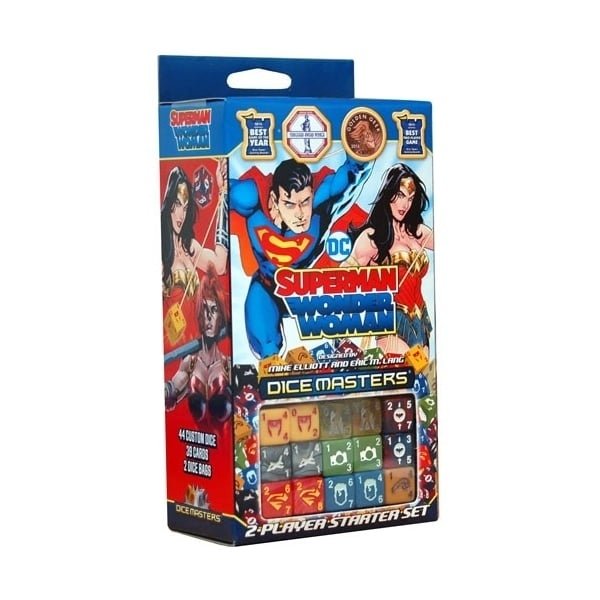 Ex-Display DC Dice Masters - Superman and Wonder Woman Starter Set Board Game Used - Like New