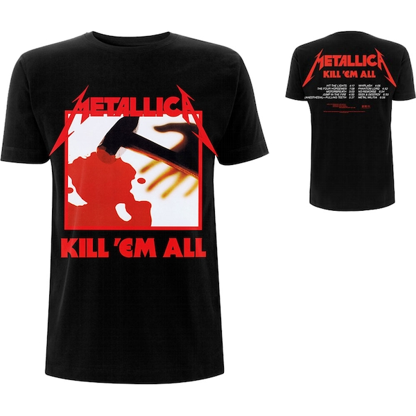 Metallica - Kill 'Em All Tracks Men's Medium T-Shirt - Black