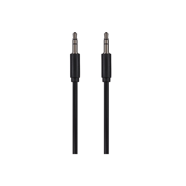 Maplin 3.5mm Stereo Auxiliary Audio 3 Pole Jack Plug Cable 1.5m Black