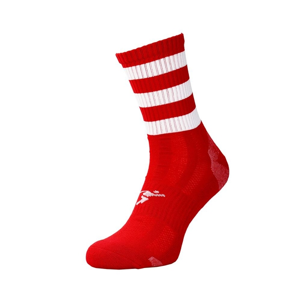Precision Pro Hooped GAA Mid Socks - Red/White