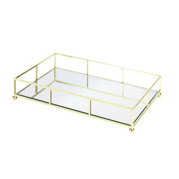 Gold Mirrored Tray | M&W - Image 1