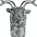 Stag Deer Head Wall Sculpture | M&W Silver - Image 4