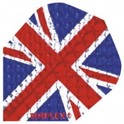 Harrows Dimplex Dart Flights Union Jack - Pack of 10 Sets