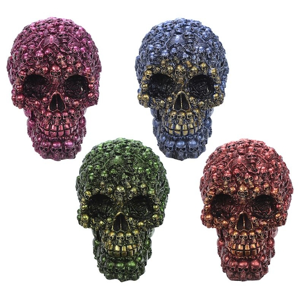 Fantasy Metallic Skull Ornament (1 Random Supplied)