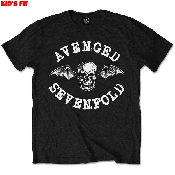 Avenged Sevenfold - Classic Deathbat Kids 3 - 4 Years T-Shirt - Black