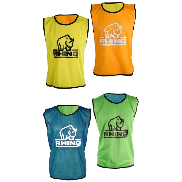 Rhino Reversible Training Vests Orange/Yellow - S/M