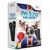 We Sing UK Hits Game Includes Twin Mic Bundle Wii