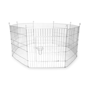 Large Outdoor Pet Playpen | 8 Panel Enclosure | Small/ Medium Pets | Pukkr