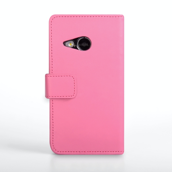 YouSave Accessories HTC One Mini 2 Leather-Effect Wallet Case - Hot Pink - Image 2
