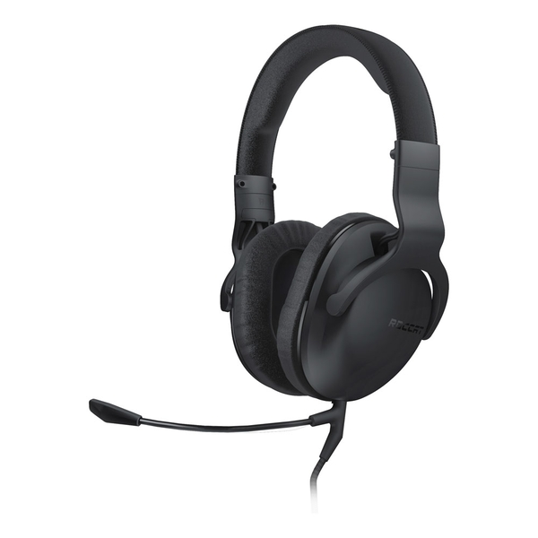 Roccat Cross Multi-Platform Over-Ear Stereo Gaming Headset with Dual Detachable Microphones