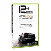Xbox LIVE 12 +1 Month Live Subscription Card Forza 3 Branded Xbox 360