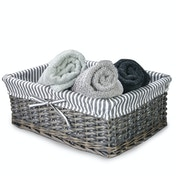 M&W Grey Wicker Baskets Large