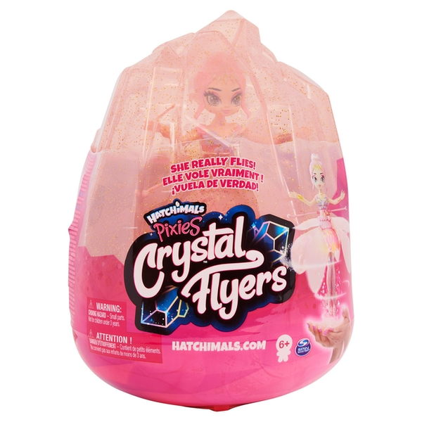 Hatchimals Crystal Flyers Pink Magical Flying Pixie Toy