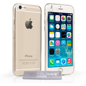 YouSave Accessories iPhone 6 / 6s Ultra Thin Gel Case - Clear