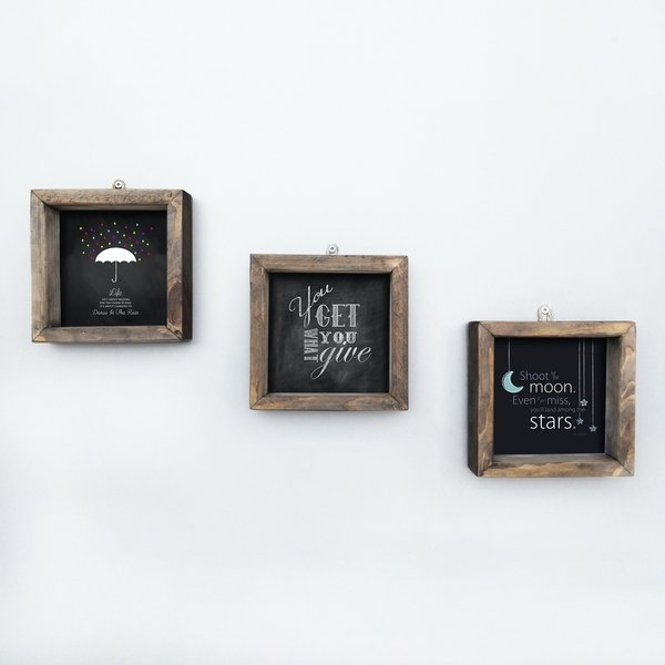 UKZM016 Multicolor Decorative Framed MDF Painting (3 Pieces)