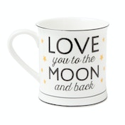 Sass & Belle Love You To The Moon And Back Golden Stars Mug