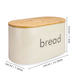 Kitchen Bread Bin with Bamboo Chopping Board Lid | M&W - Image 9