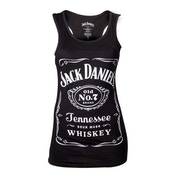 Jack Daniels Womans Old No.7 Brand Logo Large Black Tank Top