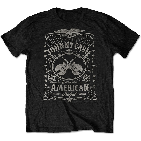 Johnny Cash - American Rebel Unisex Small T-Shirt - Black