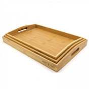 Ex-Display 3 Bamboo Wooden Serving Trays | M&W Used - Like New