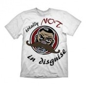 BORDERLANDS Men's Dr. Ned Totally Not in Disguise T-Shirt, Extra Extra Large, White