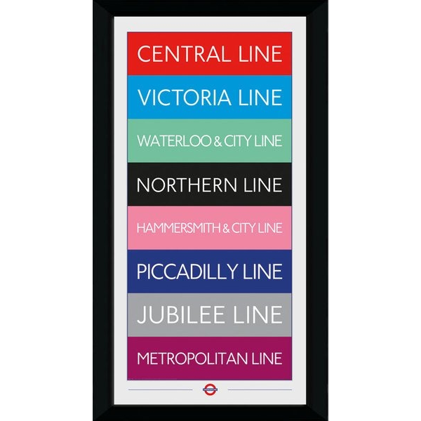 Transport For London Lines 50 x 100 Framed Collector Print