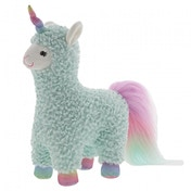 Cotton Candy Turquoise Llamacorn Soft Toy