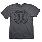 Bioshock Columbia Customs & Excise 1907 Mens Small T-Shirt - Grey