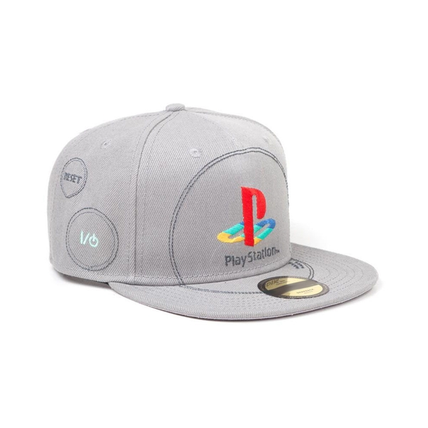 Sony - Embroidered Logo Unisex Snapback Baseball Cap - Grey