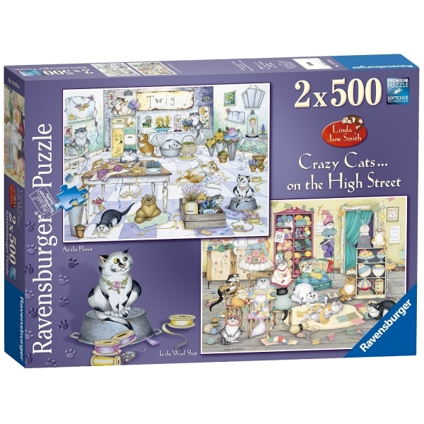 Crazy Cats on The High Street 2 500 Piece Jigsaw Puzzles