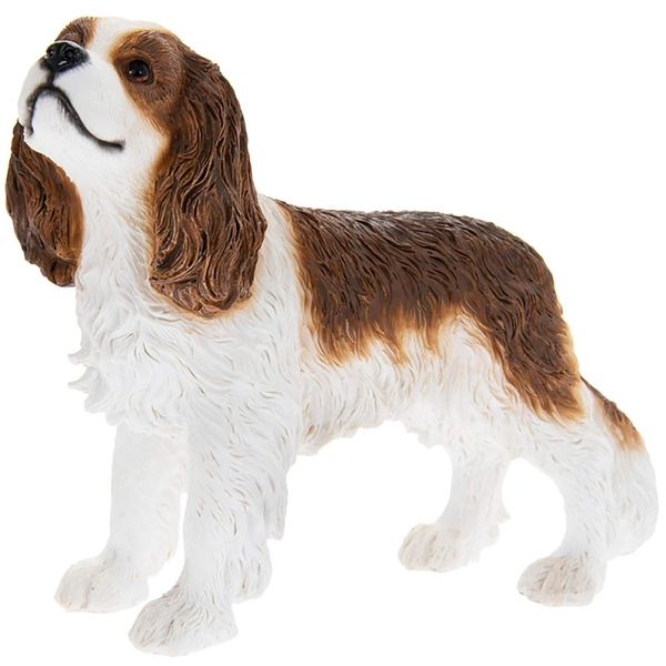 Cavalier King Charles Spaniel White & Tan Figurine By Lesser & Pavey