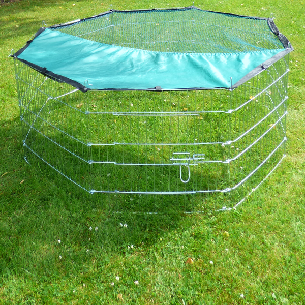 Large Outdoor Pet Playpen & Net | 8 Panel Enclosure | Small/ Medium Pets | M&W - Image 4