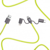 Swipe Link - 3in1 Cable 1m Green