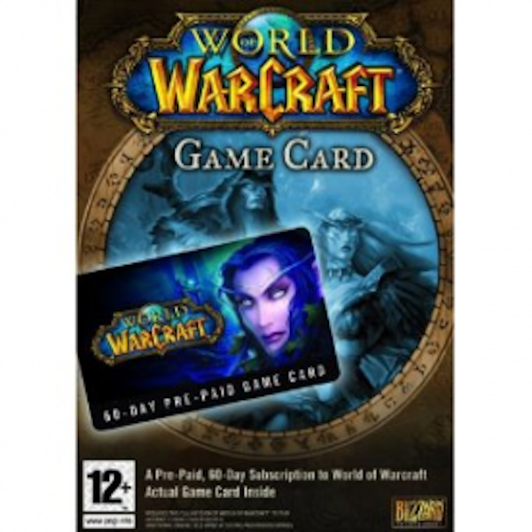 World Of Warcraft 60 Day Pre-Paid Time Card PC UK/EU Servers