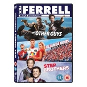 Will Ferrell Box Set Talladega Nights  Step Brothers  The Other Guys DVD