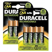 Duracell Rechargeable AA 8 Pack