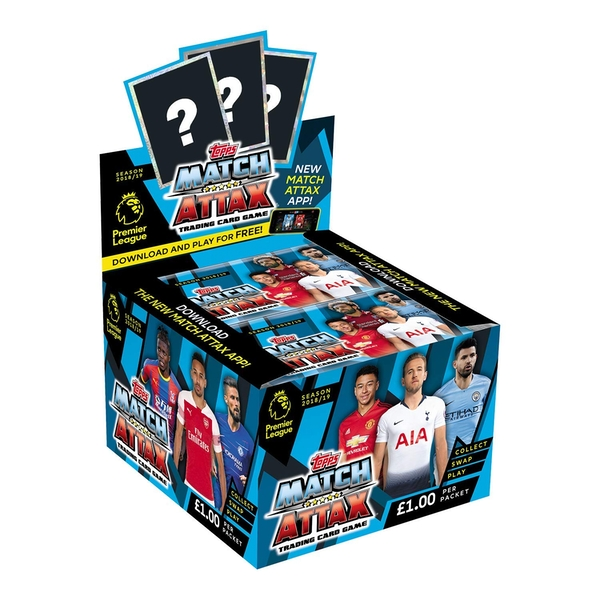 EPL Match Attax 2018/19 Trading Cards (50 Packs